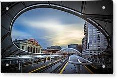 Union Station Denver - Slow Sunset Acrylic Print by Jan Abadschieff