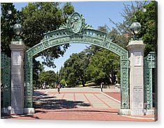 University Of California Berkeley Historic Sather Gate Dsc4072 Acrylic Print by Wingsdomain Art and Photography