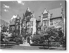 University Of Chicago Eckhart Hall Acrylic Print by University Icons