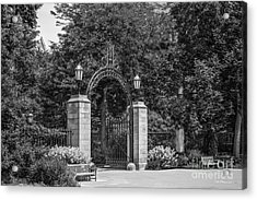 University Of Chicago Hull Court Gate Acrylic Print by University Icons