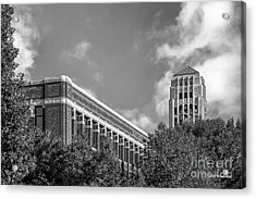 University Of Michigan Natural Sciences Building With Burton Tower Acrylic Print by University Icons
