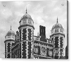 University Of Pennsylvania Quadrangle Towers Acrylic Print by University Icons