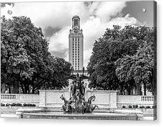 University Of Texas Austin Littlefield Fountain Acrylic Print by University Icons