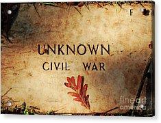 Unknown Civil War Acrylic Print by Kathleen K Parker