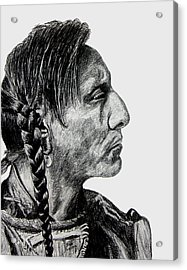 Unknown Indian II Acrylic Print by Stan Hamilton