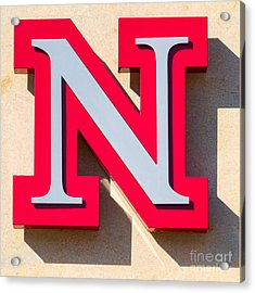UNL Acrylic Print by Jerry Fornarotto