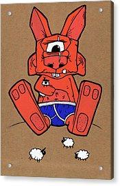 Uno The Cyclops Bunny Acrylic Print by Bizarre Bunny