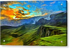 Untouched Mountains - Pa Acrylic Print by Leonardo Digenio