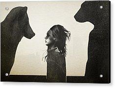 Unusual Encounter Acrylic Print by Ruben Ireland