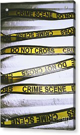 Unwrapping A Murder Investigation Acrylic Print by Jorgo Photography - Wall Art Gallery