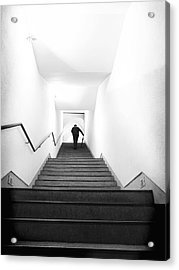 Up Stairs Acrylic Print by Artecco Fine Art Photography