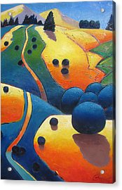 Uphill Climb Revisited. Acrylic Print by Gary Coleman