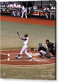 Upton At The Plate Acrylic Print by John Black