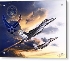 Us Air Force Acrylic Print by Kurt Miller