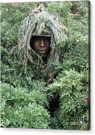 U.s. Army Soldier Demonstrates The Use Acrylic Print by Stocktrek Images
