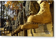 U.s. Army Soldiers Prepare For Basic Acrylic Print by Stocktrek Images
