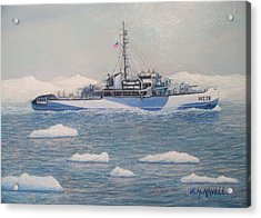 U.s. Coast Guard Cutter Eastwind Acrylic Print by William H RaVell III