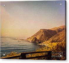 California Highway One Acrylic Print by Tom Gari Gallery-Three-Photography