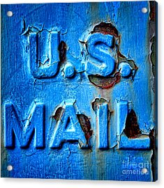 Us Mail Acrylic Print by Olivier Le Queinec