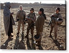 U.s. Marines In Afghanistan Assigned Acrylic Print by Everett