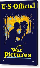 U.s. Official War Pictures Acrylic Print by War Is Hell Store