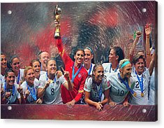 Us Women's Soccer Acrylic Print by Semih Yurdabak
