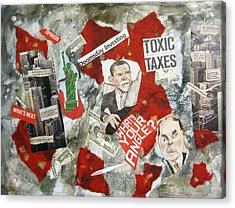 Usa Financial Meltdown Acrylic Print by David Raderstorf