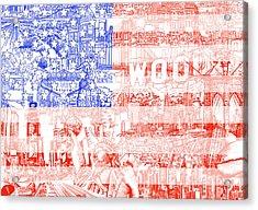 Usa Flag 1 Acrylic Print by Bekim Art