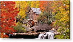 Usa, West Virginia, Glade Creek Grist Acrylic Print by Panoramic Images