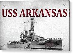 Uss Arkansas Acrylic Print by JC Findley