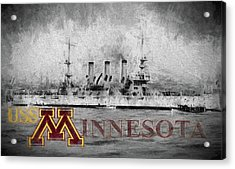 Uss Minnesota Acrylic Print by JC Findley