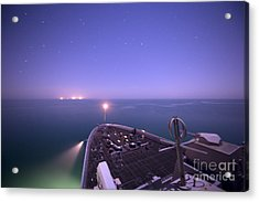 Uss New York Acrylic Print by Celestial Images