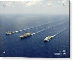 Uss Pearl Harbor, Uss Makin Island Acrylic Print by Stocktrek Images