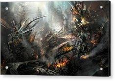 Utherworlds Ashes Acrylic Print by Philip Straub