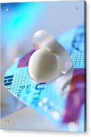 Utrogestan Pill Acrylic Print by Tek Image