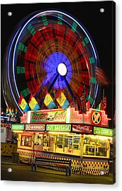 Vacant Carnival Bench Acrylic Print by James BO  Insogna
