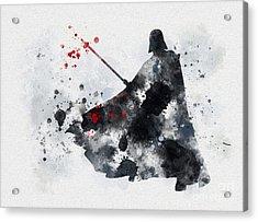 Vader Acrylic Print by Rebecca Jenkins
