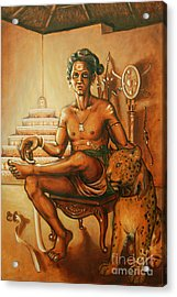 Vaduthala Nair - An Exponent In Kalari Acrylic Print by Anup Roy