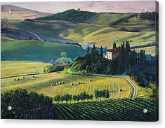 Val D'orcia Acrylic Print by Richard Barone