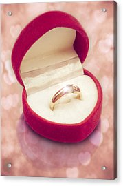 Valentine Ring Acrylic Print by Wim Lanclus