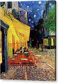 Van Gogh Cafe Terrace Place Du Forum At Night Acrylic Print by Vincent Van Gogh