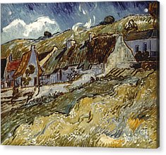 Van Gogh: Cottages, 1890 Acrylic Print by Granger