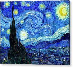 Van Gogh Starry Night Acrylic Print by Vincent Van Gogh