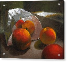 Vanzant Peaches Acrylic Print by Timothy Jones