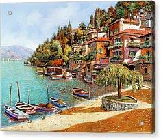 Varenna On Lake Como Acrylic Print by Guido Borelli
