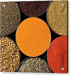 Various Kind Of Spices Acrylic Print by PKG Photography