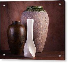 Vases With A Twist Acrylic Print by Tom Mc Nemar