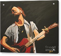 Vedder Acrylic Print by Steven Dopka
