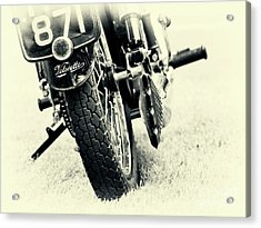 Velocette Abstract Acrylic Print by Tim Gainey
