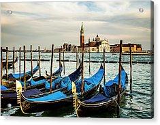 Venetian Gondolas Acrylic Print by Andrew Soundarajan